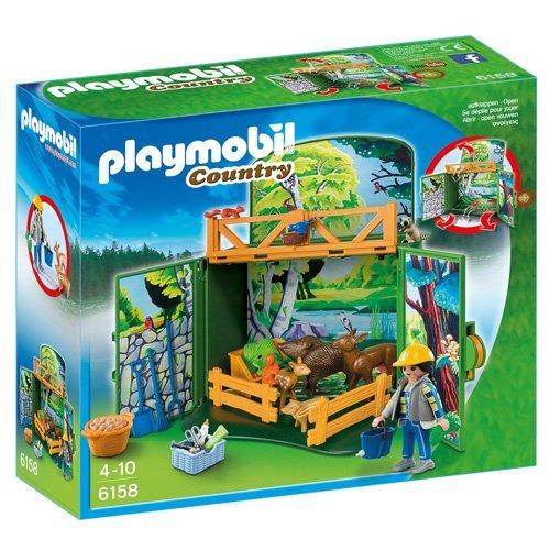 Playmobil - Cofre maletín Cuidador Animales del Bosque...