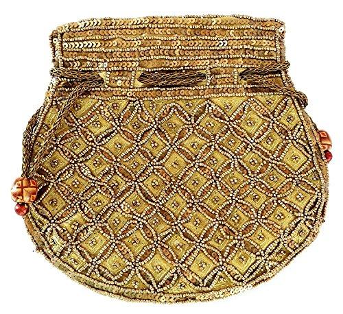 Royal Rajasthani Ethnic / Potli Bag/ Bridal potli bag for Patry / Wedding / Wedding Gift  available at amazon for Rs.399