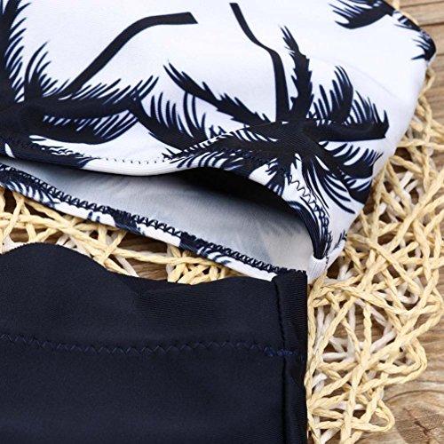 Overdose Damen Push Up Bikini-Sets Tankini Slip Beaderock Neckholder Bandeau Badeanzug Bademode swimwear swimsuits G-D
