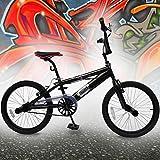 Jago - Bicicleta BMX negra con ruedas de 20 pulgadas
