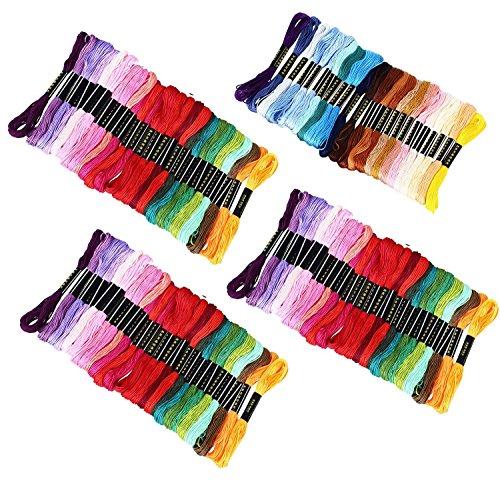 comprare on line Punto Croce Kit, Wartoon Multicolore Cotone Fili da Ricamo per Punto a Croce(100 pezzi ) prezzo