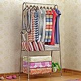 LJHA Floorstanding/Metall kreative Garderobe/Schlafzimmer einfache Moderne/Kleiderbügel (3 Farben erhältlich) Kleiderbügel (Farbe : Gold)