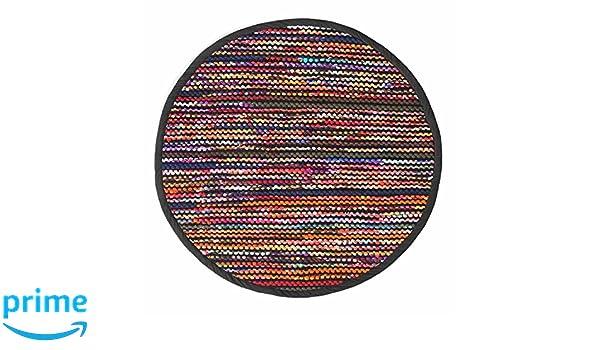 Tappeti In Tessuto Riciclato : Homescapes boemia stile folk tappeto intrecciato tessuto riciclato