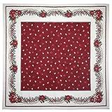 Provencestoffe.com Bezaubernde romantische Mitteldecke, ca. 100x100 cm, Weihnachtsdecke Gobelin