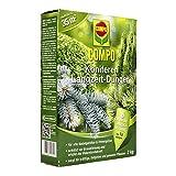 COMPO Koniferen Langzeit-Dünger für alle Arten von Nadelgehölzen und Immergrünen, 6 Monate Langzeitwirkung, 2 kg, 35m²