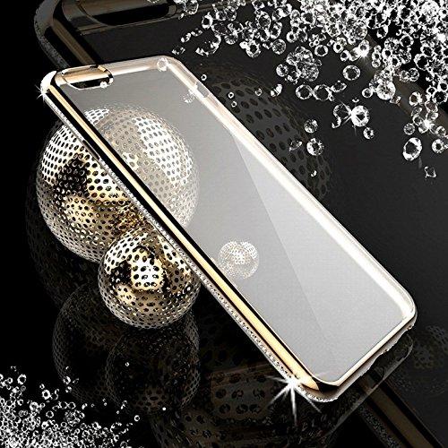 SCSY-phone case Per il iPhone 6 & 6s la copertura di lusso di Bling del diamante della copertura TPU della cassa protettiva TPU ( Color : Gold ) Gold