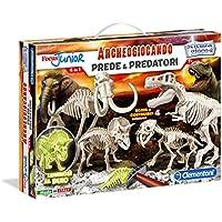 Clementoni 13196 - Focus Junior Archeogiocando Kit Scientifico Prede e Predatori