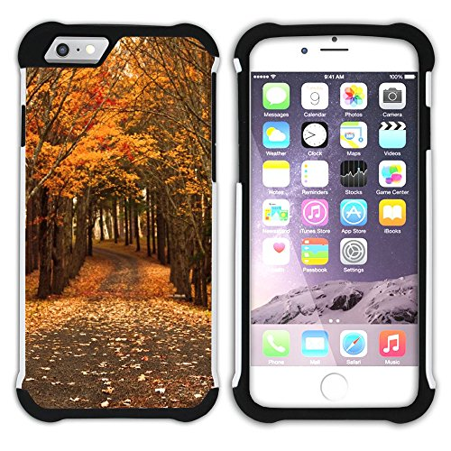 Graphic4You Herbst Leaves Bäume Postkarte Hart + Weiche Kratzfeste Hülle Case Schale Tasche Schutzhülle für Apple iPhone 6 / 6S Design #12