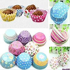 Kitchen Delli Bakeware Tools 150 Pcs Mix Design Microwave/Oven Safe Baking Muffin & Cupcake Paper Moulds (Color May Vary)