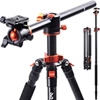 K&F Concept 238CM Stativ, SA254T1 Kamerastativ mit verlängerten 90 Grad Mittelsäulen, 360° Panorama Fotostativ mit…
