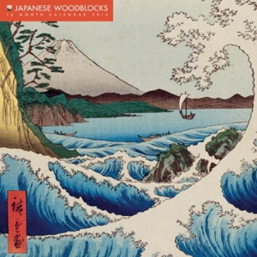 Japanese Woodblocks 2014 Calendar: With Glittered Cover
