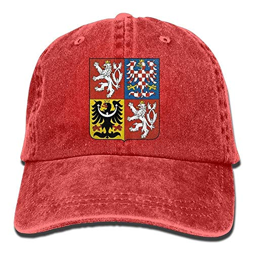 Arms of The Czech Republic Sports Adjustable Structured Baseball Cowboy Hat ()