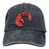 Adult Denim Cap Lobster Clipart Classic Dad Hat Adjustable Plain Cap