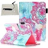 TOCASO Hülle für Apple iPad Mini 1/2 / 3 Muster, Schutzhülle für iPad Mini 3/2 / 1 Protective Case Wallet vollständig schützende Magnetverschluss Ständer Karte Slots Soft Silikon Backcover