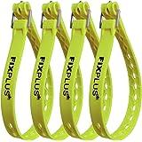 Fixplus Strap Juego de 4 correas de amarre para asegurar, fijar, unir y amarrar, de plástico especial con hebilla de aluminio
