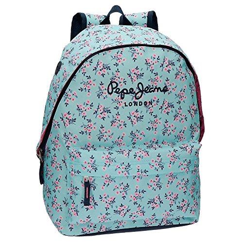 comprar online 52bb8 7e9bd Pepe Jeans 6012361 Denise Mochila Escolar, 22.85 litros, 42 cm, Azul