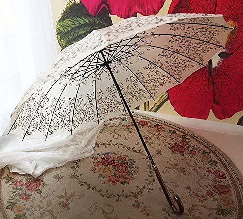SSBY In alluminio pulito ombrelloni dell'annata in estate, estate, estate, lungo ombrello antivento 16 osso ladies Super ombrello ombrello, robusto e portatile , rosso | eccellente  | The King Of Quantità  ff1a0b