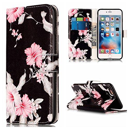 GR Premium PU Leder Brieftasche Case Cover für Apple IPhone 6 & 6s Plus, Horizontale Flip Case Cover Luxus Blume / Marmor Textur Fall mit Magnetverschluss & Halter & Card Cash Slots ( Color : G ) A