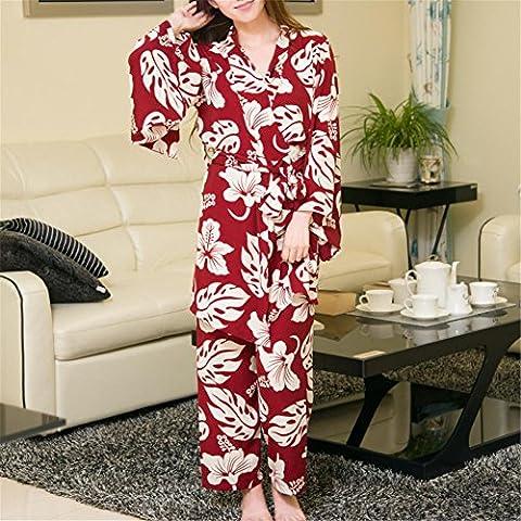 DONG Classico pigiama Ladies Set 3 pezzi retrò camicie da notte , figure color , f