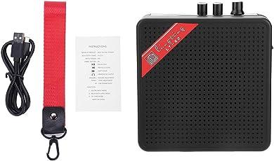 Tbest Gitarrenverstärker Mini Combo Amp Mini E-Gitarre Verstärker Lautsprecher Amp 5 Watt 9 V Tragbare Lautsprecher Lautstärkeregler
