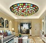 Mittelmeer-Mosaik-Deckenleuchten Veranda Balkon Gang LED-Lampen Café