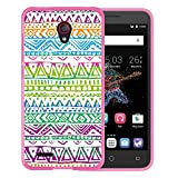WoowCase Alcatel OneTouch Go Play Hülle, Handyhülle Silikon für [ Alcatel OneTouch Go Play ] Gezeichnete Stammeshand Handytasche Handy Cover Case Schutzhülle Flexible TPU - Rosa