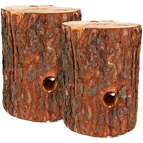 *com-four® 2X Schwedenfeuer mit Anzünddocht, Finnenfackel für Outdoor Kochstellen, Baumfackel, Gartenfackel (Schwedenfeuer – 02 Stück)*