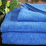 Homescapes Toalla para Cara, 100% algodón Turco Absorbente y Suave, Color Azul Francia 30 x 30 cm