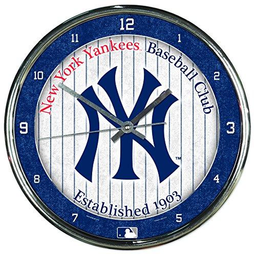 MLB Chrome Uhr, 30,5x 30,5cm, Team Color, Einheitsgröße (York Yankees Golf New)