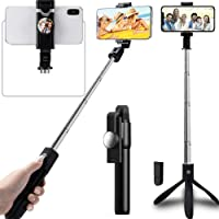 Adofys Selfie Stick Tripod Stand Holder Extendable with Bluetooth Remote Compatible with Samsung Galaxy S7/7 Plus /S8/8…