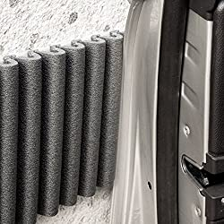 Mondaplen Wall Bumpers: Self-Adhesive Corrugated Foam Strips, Car Door Protectors for Garage Walls. Each set contains 2 strips: ≈ 1.35 m x 17 cm