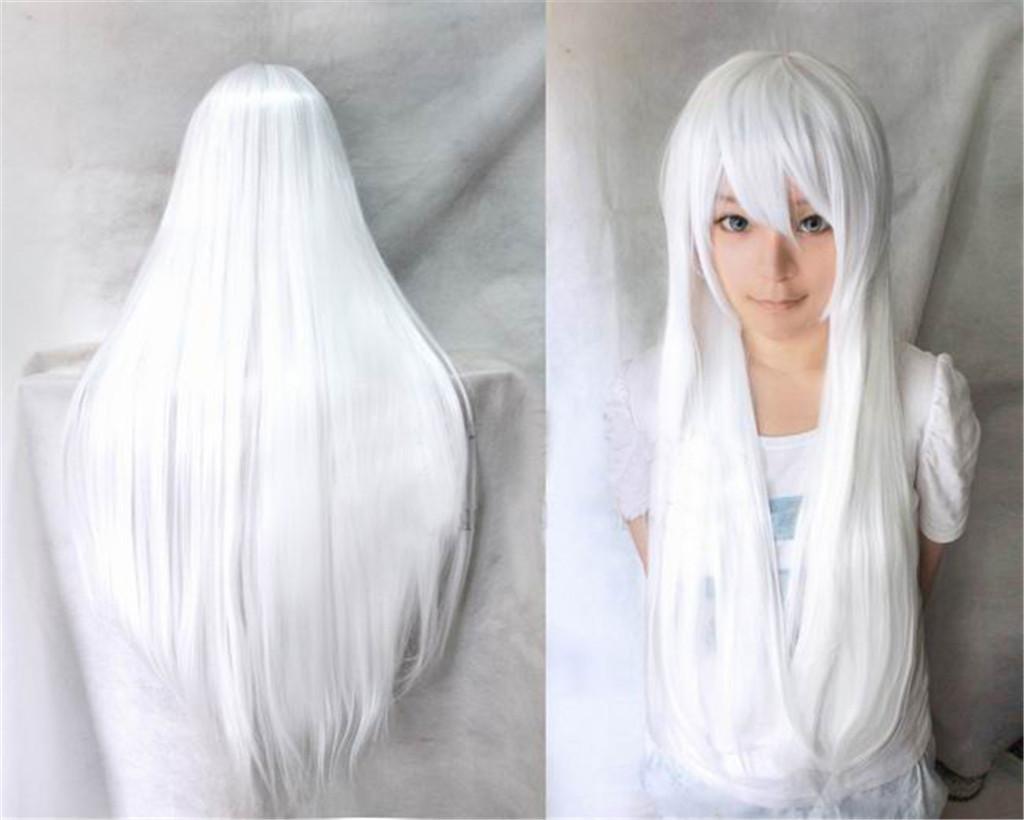 XY-QXZB Capelli lunghi lisci multi-colore Cosplay Costume partito capelli naturali Parrucche moda f