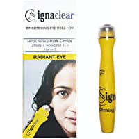 SignaClear Eye Roll ON 12 ml with Caffeine + Pro- Vitamin B5 + Vitamin E, Helps to reduce Dark Circles, Puffiness and…