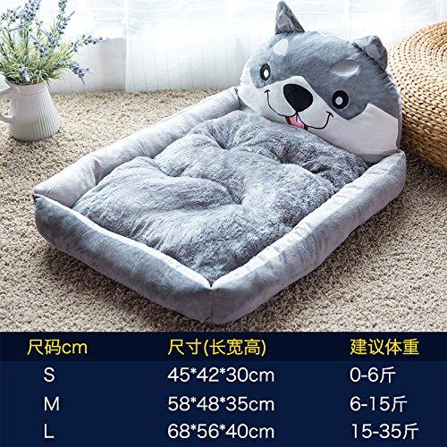 Siberian Husky Hund T-shirt (Aemember Wenn das Katzenstreu Taktik Bichon Hundebett Medium Kleine Hunde- und PET-Produkte können in vier Jahreszeiten Kissen, Siberian Husky, L (35 Jin Hund/Katze).)