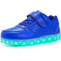 Axcer Mixte Enfants LED Chaussures de Sport 7 Changement de Couleur USB Rechargeable LED Lumineuse Clignotant Baskets…