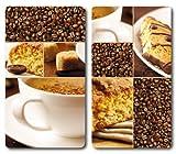 Kesper 3652813 - Tablas para Cortar (Cristal, 2 Unidades, 52 x 30 x 1,2 cm), diseño de café