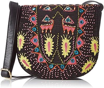 Antik Batik Saporta - Bolso al hombro para mujer multicolor Multicolor (Multico) 8x19x20 cm (W x H x L)