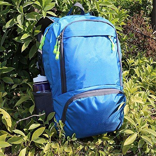 Raggiungibile a piedipieghevolezainoleggeroall'apertoalpinismoborsaimpermeabileportatileborsadaviaggio(25L), nero blue