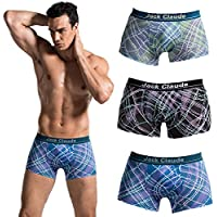 Ulisc Men's 3 Pack Ultimate Comfort Soft Waistband Boxer Briefs, Assorted Colors