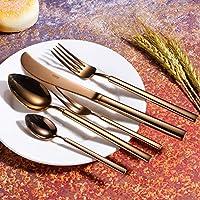 Cuchillos mixtos de lujo de 5 piezas Conjuntos Cuchillo Cuchara Tenedor Ensalada Barroca Original Sealed Gold