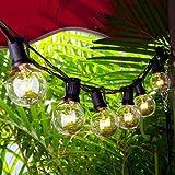 GartenLichterketten, Chenci Innen und Außen Beleuchtung G40 Lichterkette Leuchte Leuchtmittel 7,62m anschließbar mit 25 warmweiß Glühbirnen von7 W , Dekoration für Weihnacht Cafeteria Party