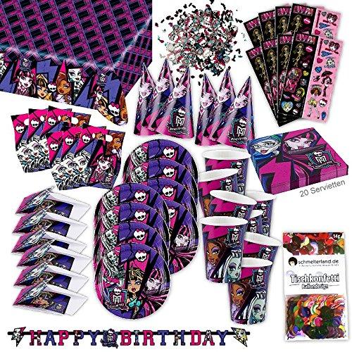 Monster High 2 Party Set XL 72-teilig für 6 Gäste Monsterparty Deko ()