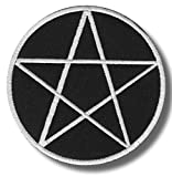 Lone patch Pentagram - Aufbügel Patch, 10 X 10 cm