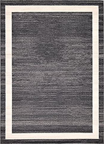 8-Feet by 11-Feet (8' x 11') Del Mar Black Area Rug
