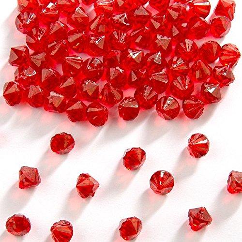 Folat Dekorative Tabelle Diamanten Rot 9mm (Tabelle Rot)
