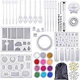 IWILCS Siliconen hars mallen voor sieraden maken, Epoxy hars mallen, Sieraden gieten mallen, Hars Mould Kit, Hars hanger Mold
