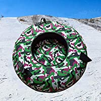 ZHAOK Trineo 80 cm de diámetro Inflatable Snow Tube Snow Tube for Winter Fun Inflatable, for Kids and Adults, Sturdy Sledding Tubes, Easy To Grip Handles,c