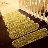 pad CAICOLORFUL Chemische Faser Rutschfester Verschleiß Haustreppen Teppich Osmanen Wasser Schlafzimmer Schrittmatte Holzleiter Fuß Innen Teppich (Farbe : 3)