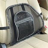 Golopoo Hot!Los asientos del coche Silla de oficina Volver cojín del respaldo lumbar Masaje Negro Malla ventila el amortiguador de alivio del dolor de la almohadilla del asiento Corrector de Postura (negro)