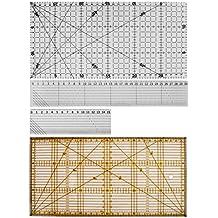 Gazechimp 1X Kit de Reglas de Costura Acolchado Herramienta Provechosa de Bricolaje para Patchwork Bonito Equipos de Medir Perfectamente de Acrilico